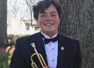 Justin Henke, sophomore trumpet performance major