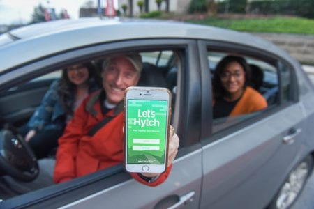 Employees use the Hytch App to carpool to Belmont's campus