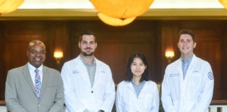 Dr. Blash and pharmacy students