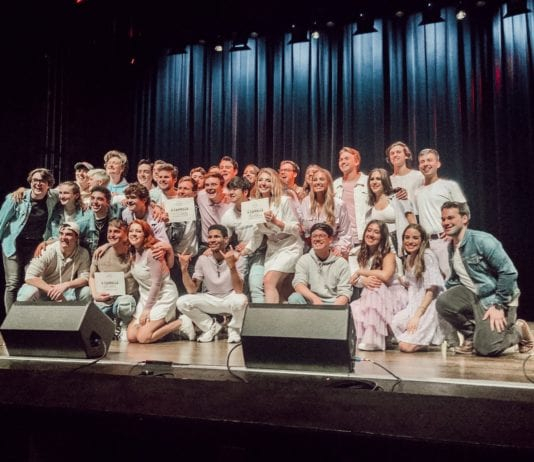 Belmont acapella groups The Beltones and Pitchmen at the International Championship of Collegiate A Capella South Quarterfinal Competition