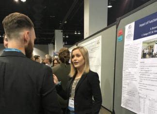 Cailey Daluga at American Physical Therapy Association (APTA) Combined Sections' national meeting in Denver, Colorado