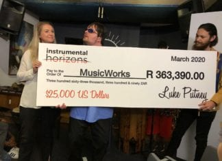 Putney Presents Check to Music Works