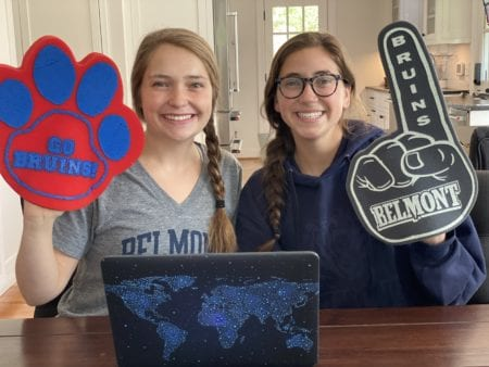 Bailey and Brynn Smith Watch Be Belmont Day Live from home