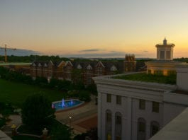 Sunset from Ayers roof