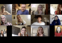 Screenshot of students on Zoom