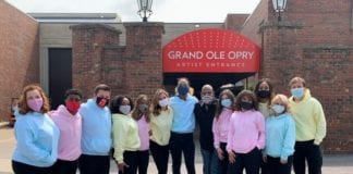 Belmont Students at Opry for ACMs