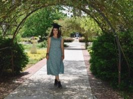 Brooke Small on Belmont's campus