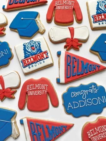 A set of Henegar's Belmont-branded cookies
