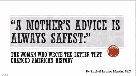 A Mother's Advice is Always Safest