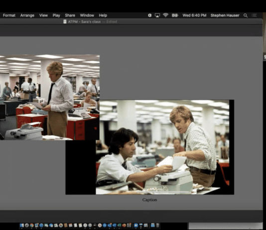 """All the President's Men"" film scenes"