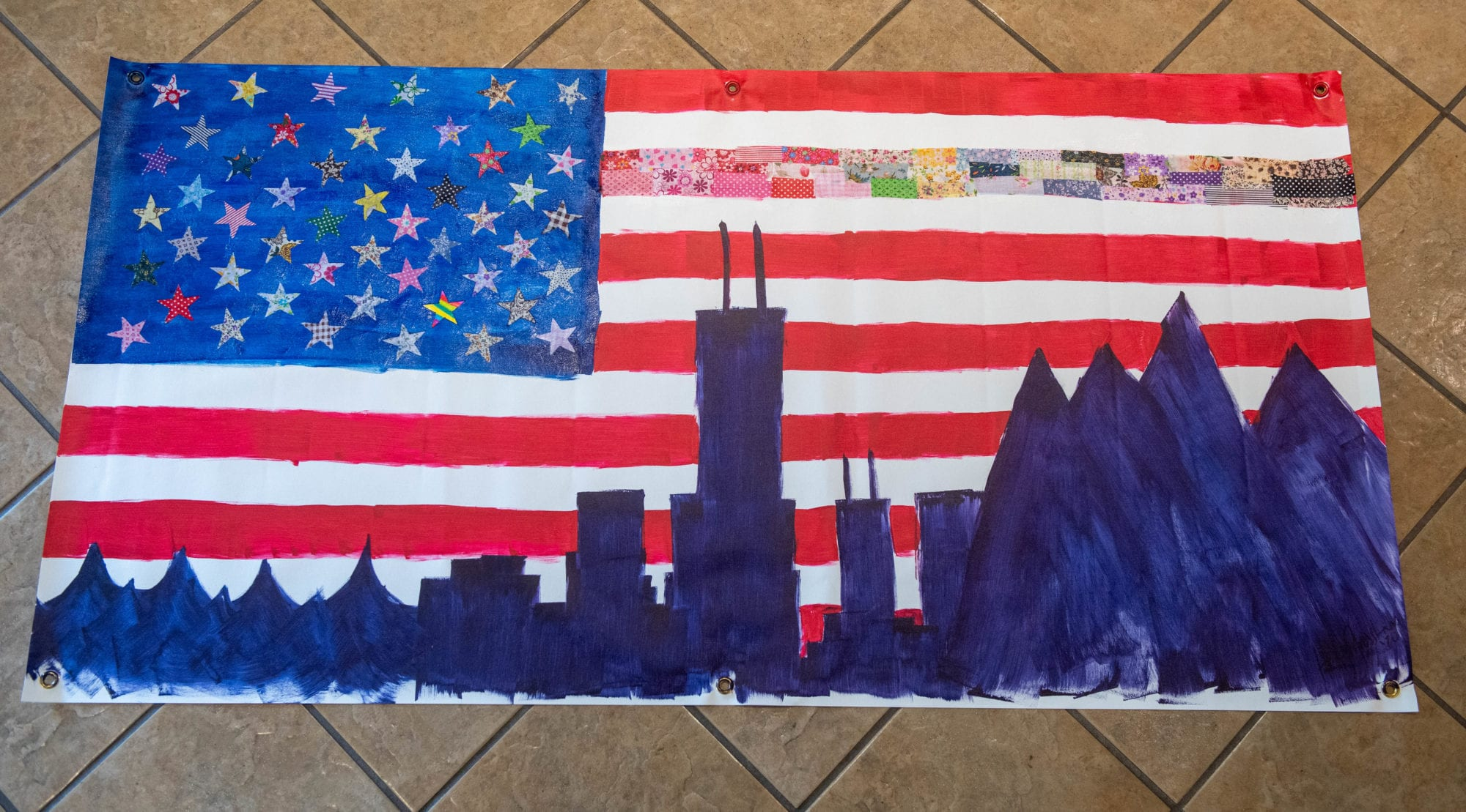 From Sea to Shining Sea, Unity Flag submitted by Holly Grosshans (Illinois)