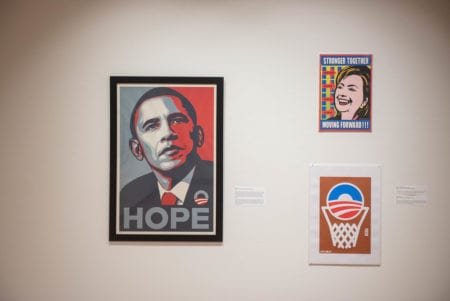 Photo of Political posters in gallery