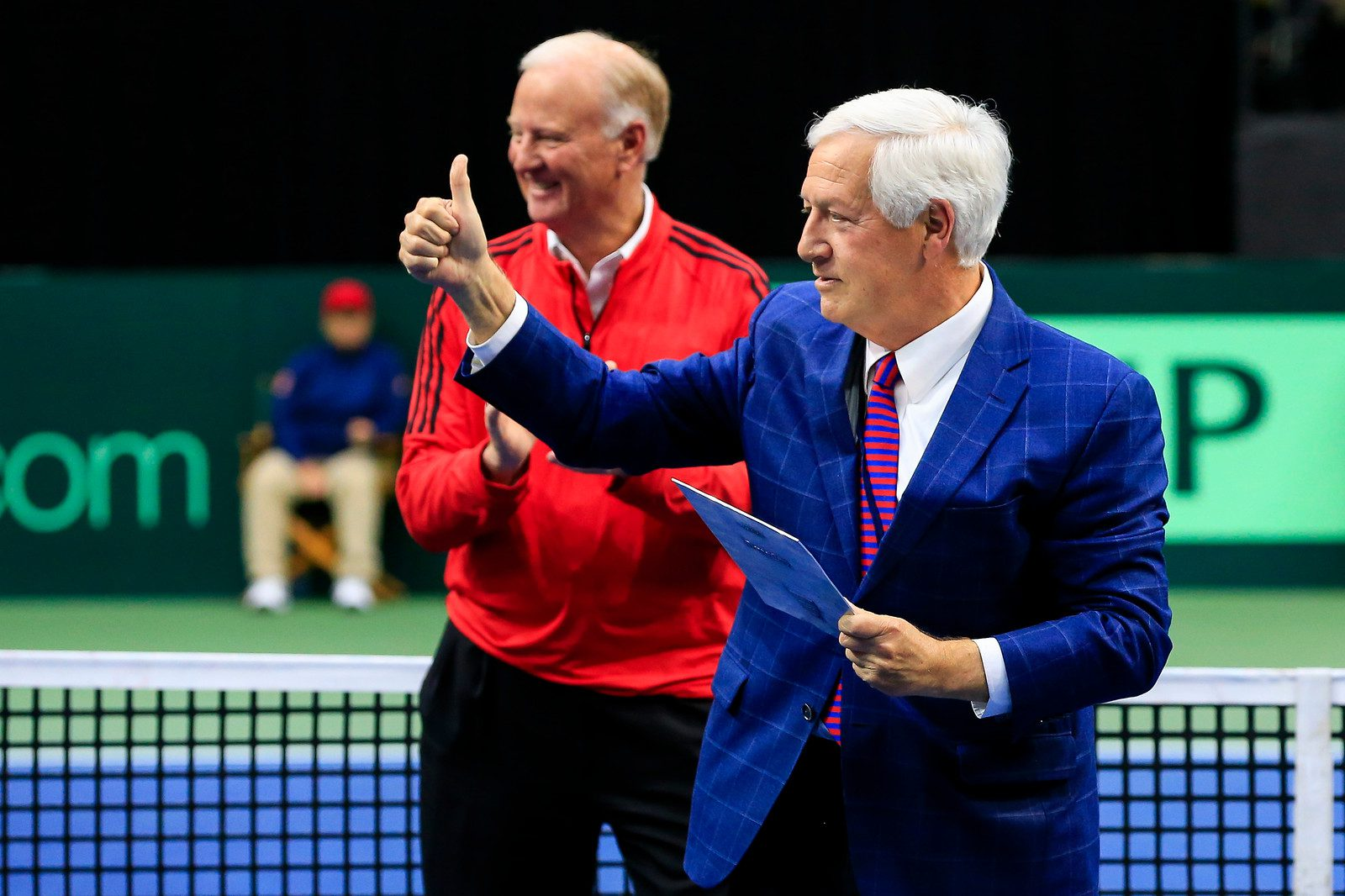 Dr. Fisher with J. Wayne Richmond at Davis Cup at Belmont