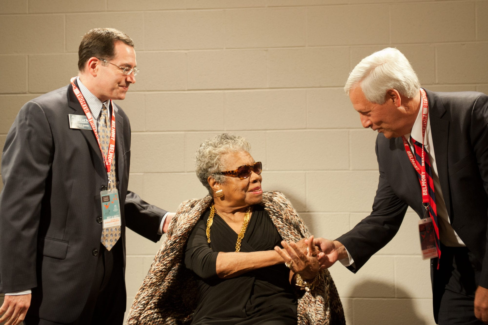 Dr. Fisher and Dr. Burns with Maya Angelou