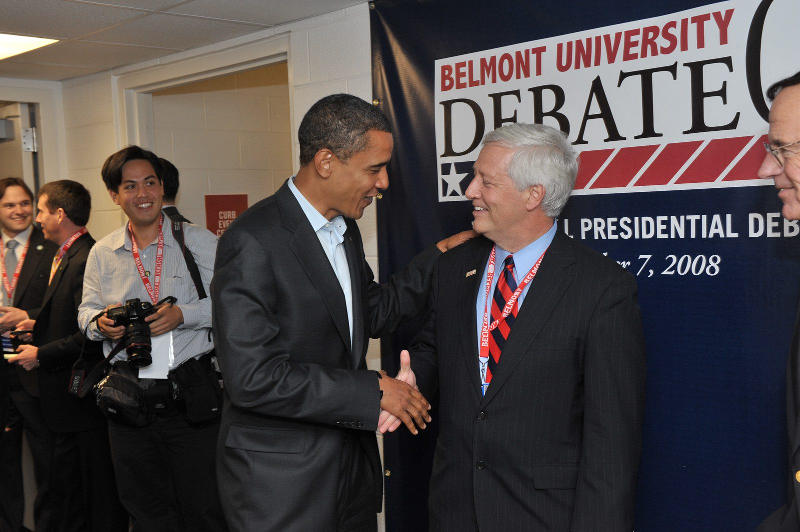 Dr. Fisher with then presidential candidate Barack Obama