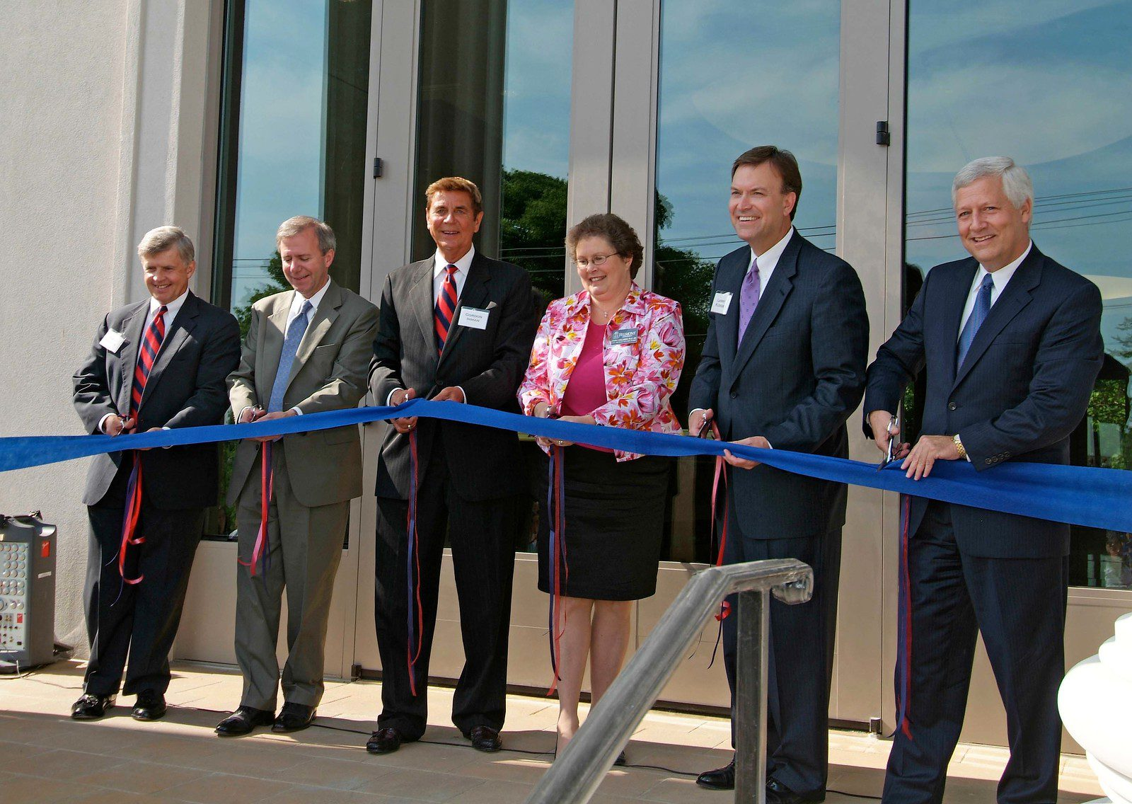 Dr. Fisher and group at ribbon cutting for Inman Center