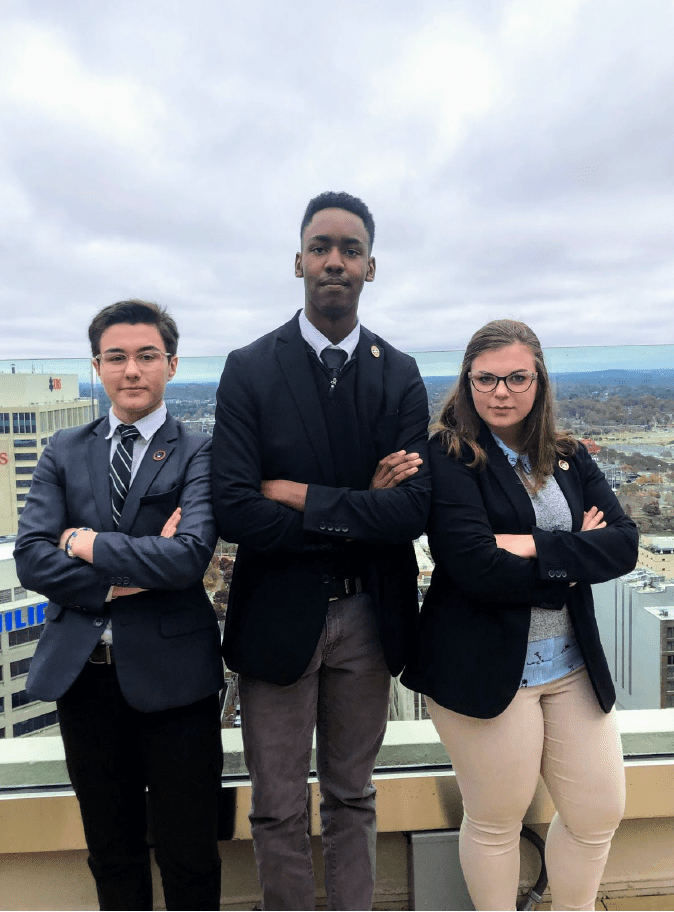 Belmont students at the TISL General Assembly