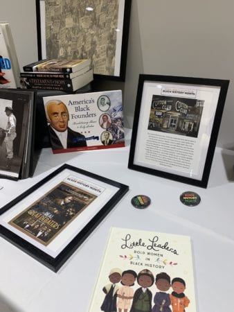 Table display in Gabhart for Black History Month