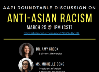 Anti-Asian Racism Roundtable Discussion Flyer