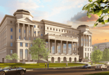 Rendering of proposed building for Frist College of Medicine