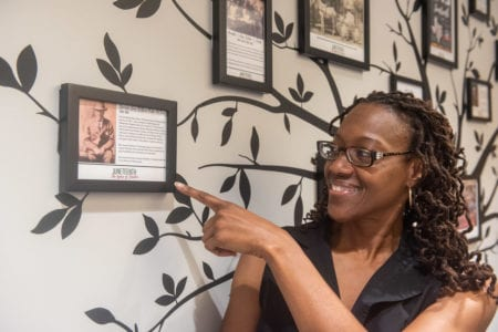 Andrea McClain points to story of her grandfather, Reverend Harrison Dury William Porter McClain