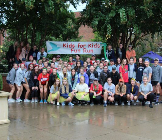 Students at Kids for Kids Run