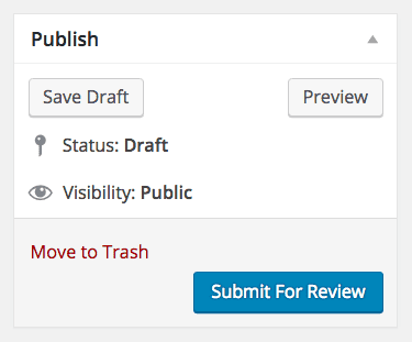 Students can submit posts for review which you then publish to your blog