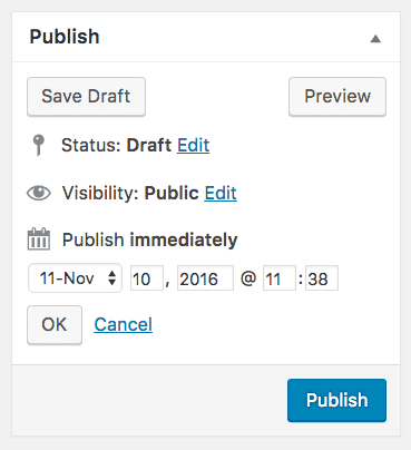 Scheduling posts for a future date makes things more efficient