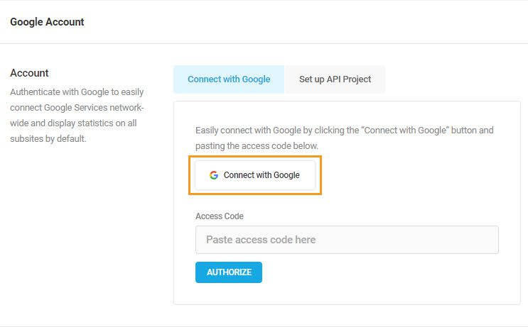 Click Connect with Google