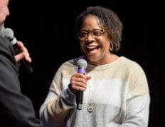 Missie Branch shares her testimony at CSU Chapel