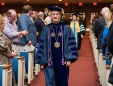 President Costin at physician assistant graduation December 2019