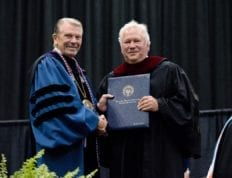 Dr. Hunter and Dr. Strack honorary doctorate