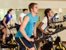 Students work out in Brewer Center