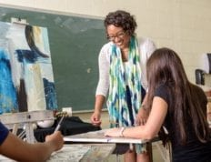 Andrea Glover in the classroom