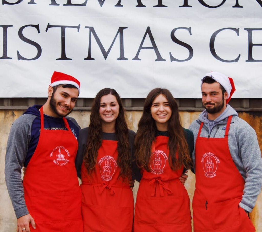 Students serve at Salvation Army's Angel Tree program.