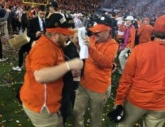 Scott Crothers enjoying the celebration of Clemson's national championship win.