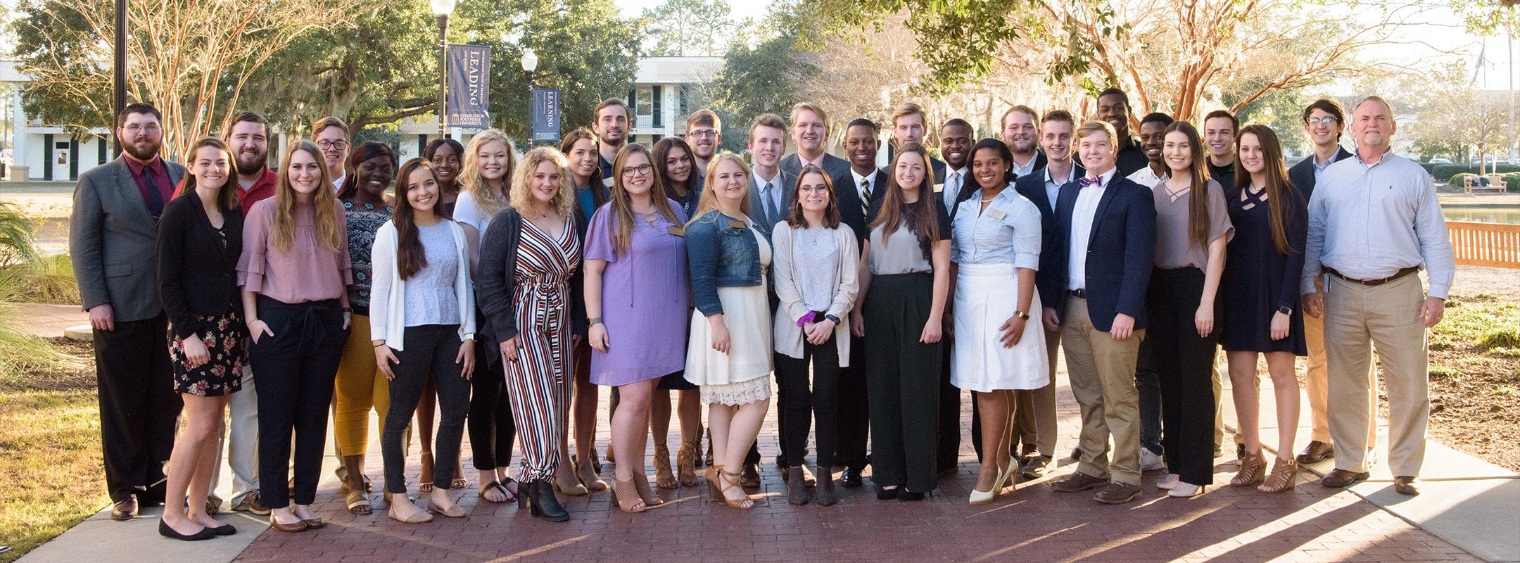 A large group photo of the members of the Student Government Association at CSU.