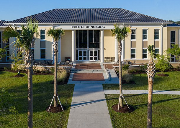 The College of Nursing building at Charleston Southern University.