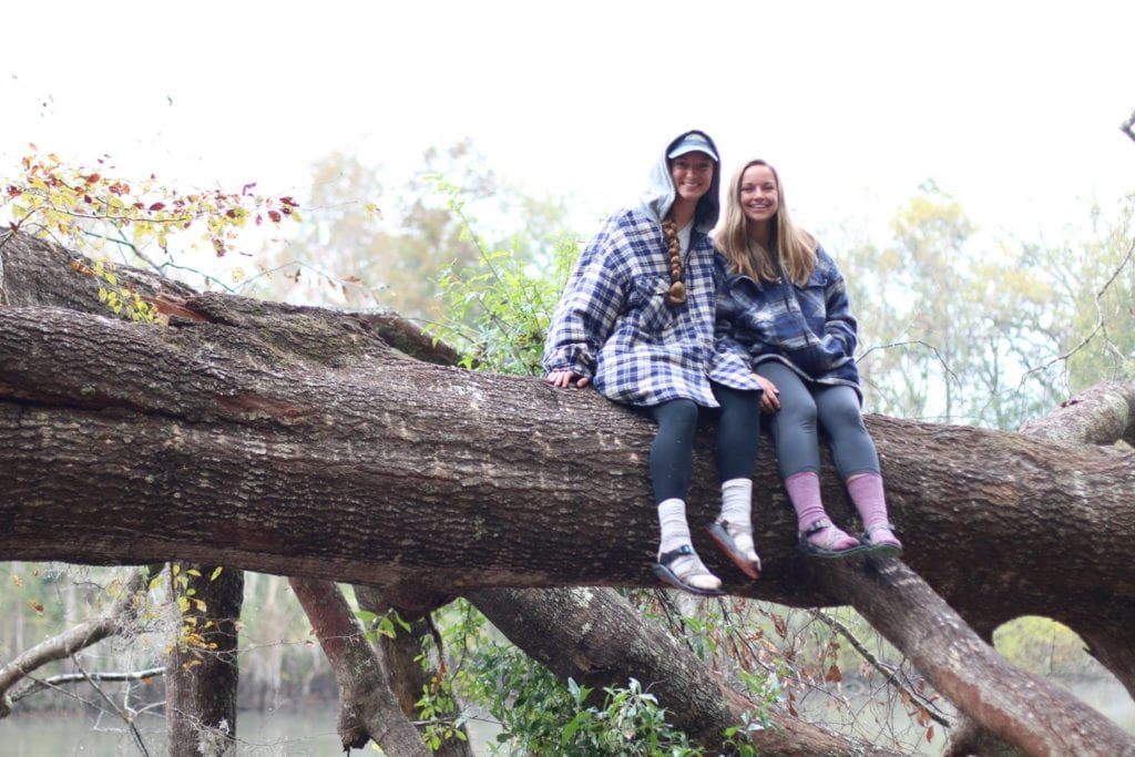 Two Charleston Southern students a part of the Outdoor Adventure Club