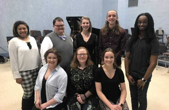 Eight voice students from the Horton School of Music at Charleston Southern University have earned awards in two separate National Association of Teachers of Singing (NATS) Student Auditions, competing in nine different categories
