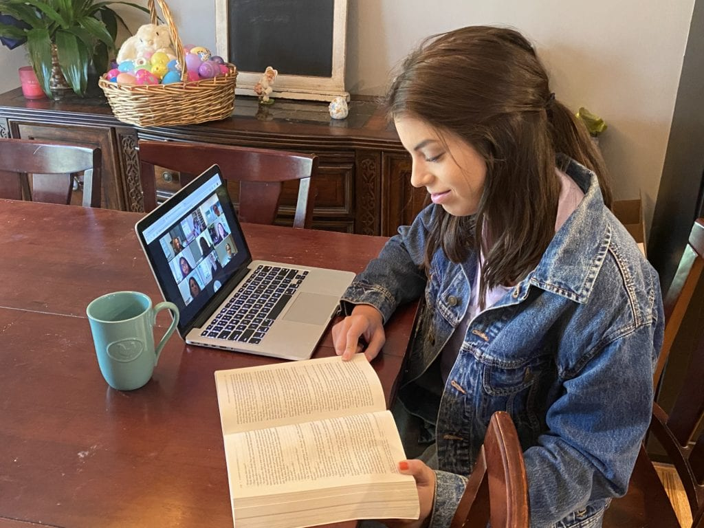 CSU student Morgan Pheffer uses virtual study sessions during online instruction
