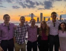 CSU student Ralissa DeJong and the other Meraki Honors Program interns in New York