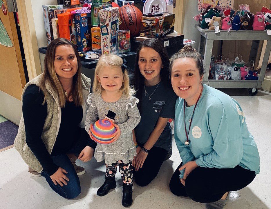CSU junior Anna Covington gives toys to kids battling cancer at Prisma Health Children's Hospital in Columbia