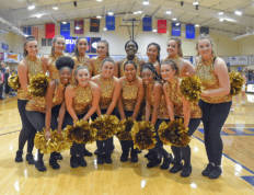 Joaline Diez with the CSU Dance Team