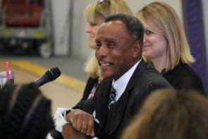 Professor J. Anthony Snorgrass speaks during panel discussion