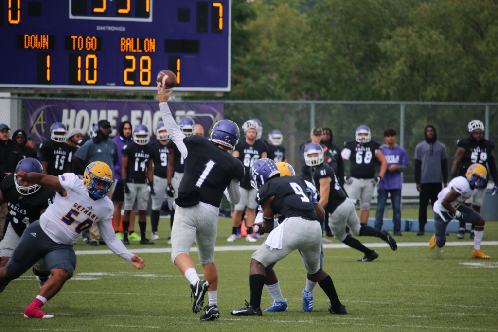 Avila quarterback throwing downfield