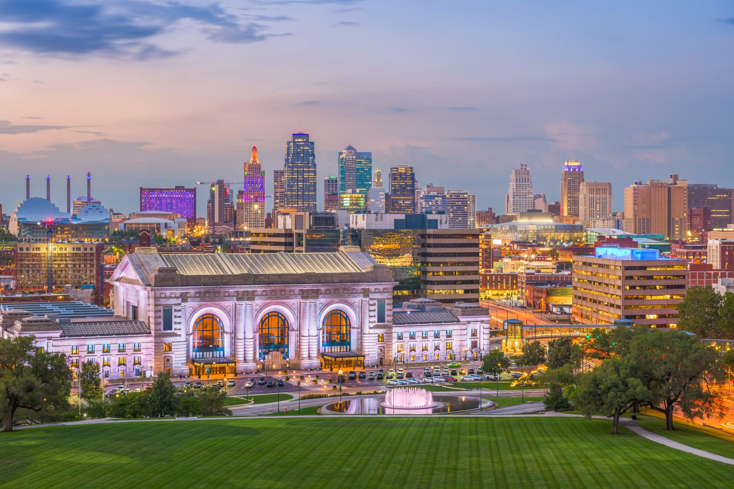 Kansas City skyline with Union Station in the foreground