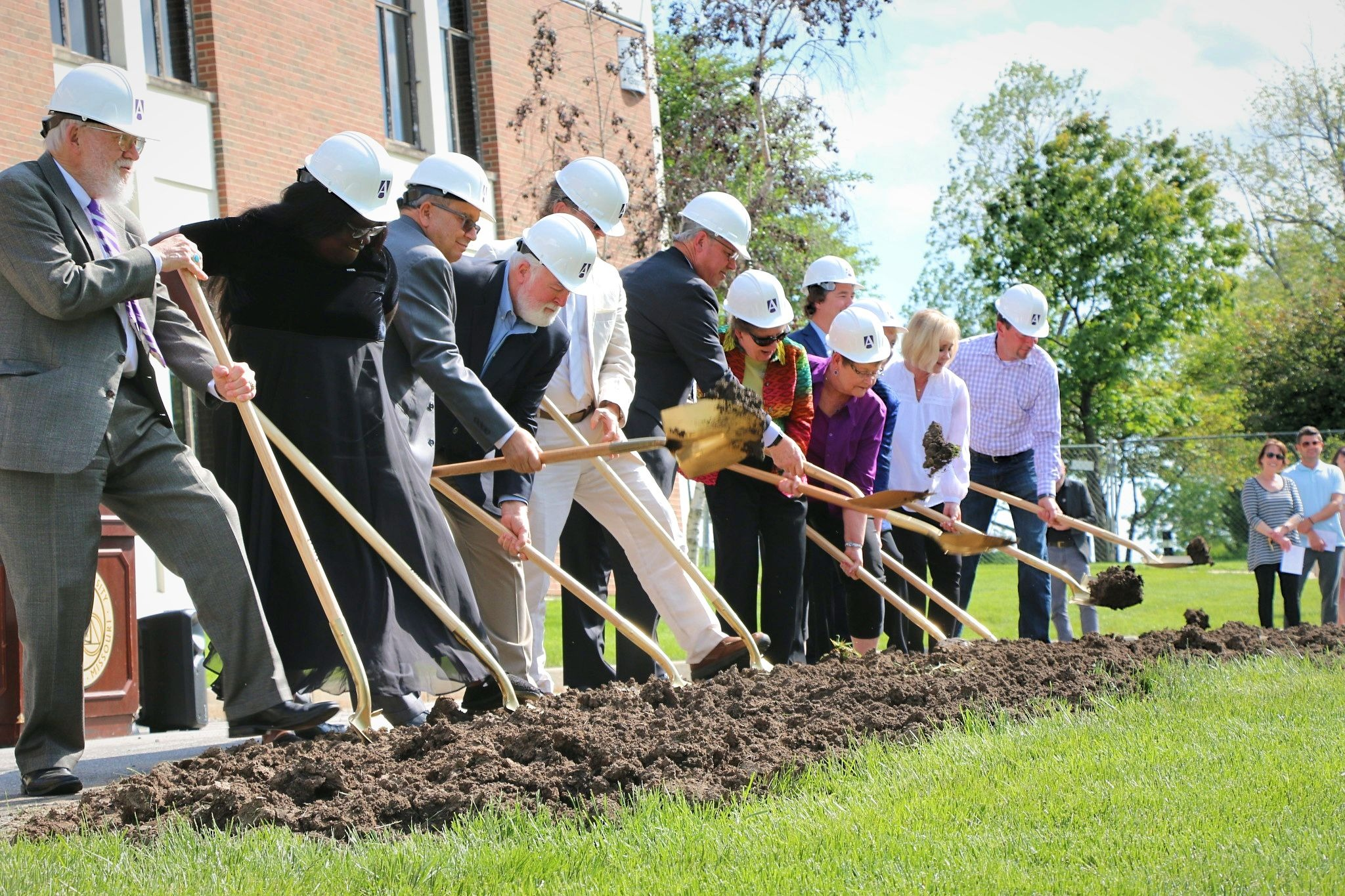 Ground breaking ceremony for the Goppert Performing Arts Center