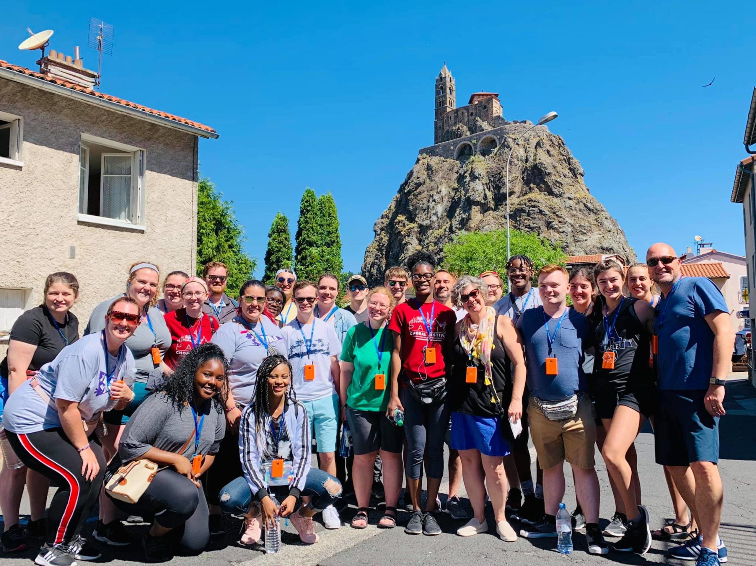 A group of Avila students in LePuy, France