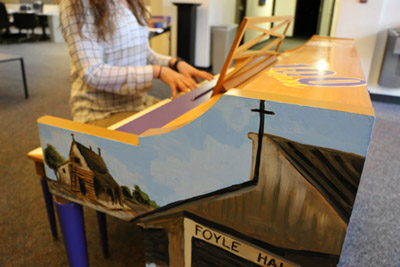 Photo of painted piano